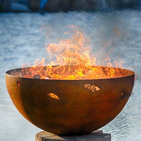 Fire Pit Gallery A Walk On the Beach Fire Pit | Woodland ...