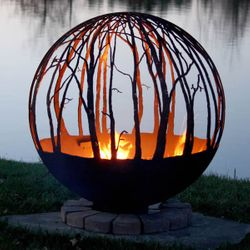 Fire Pit Gallery Winter Woods Fire Pit