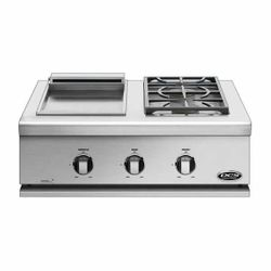 """DCS Liberty Built-In Griddle and Side Burner - 30"""""""