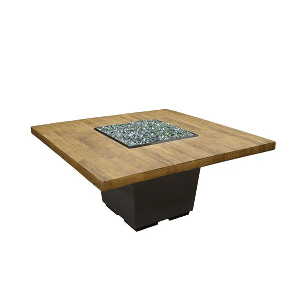 French Barrel Oak Cosmo Gas Fire Pit Table - Dining image number 1