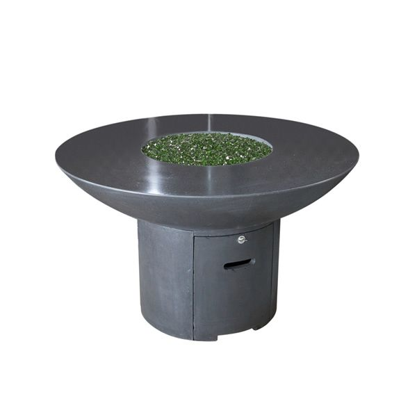 Lotus Gas Fire Pit Table with Polished Top - Dining Height image number 1