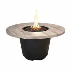 Silver Pine Cosmo Gas Fire Pit Table - Round