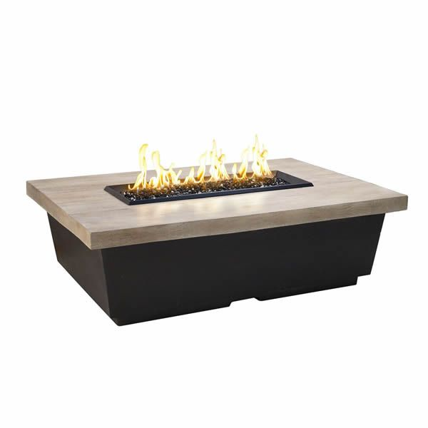 Silver Pine Contempo Gas Fire Pit Table - Rectangle image number 1