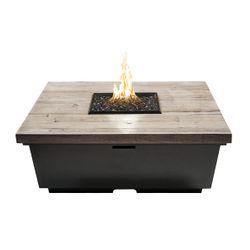 Silver Pine Contempo Gas Fire Pit Table - Square