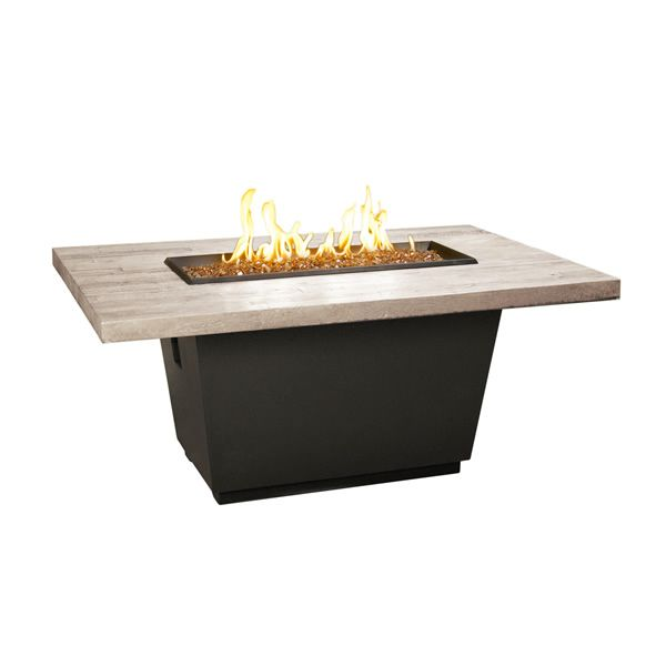 Silver Pine Cosmo Gas Fire Pit Table - Rectangle image number 0