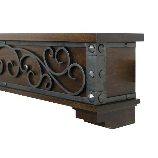 Ornamental Designs Symphony Fireplace Mantel - Mahogany image number 1