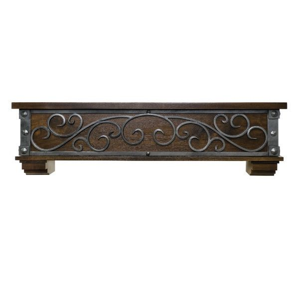Ornamental Designs Symphony Fireplace Mantel - Mahogany image number 0