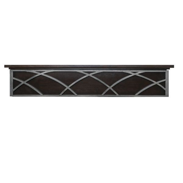 Ornamental Designs Hansel Fireplace Mantel - Mocha image number 0