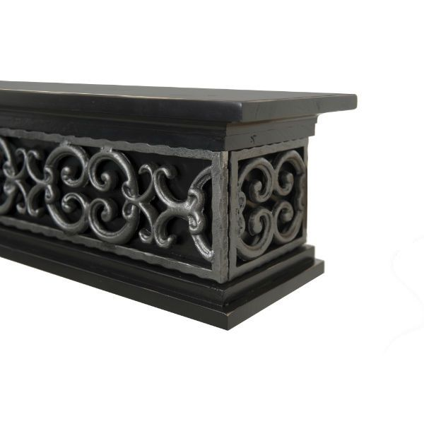 Ornamental Designs Tuscany Fireplace Mantel - Black image number 1