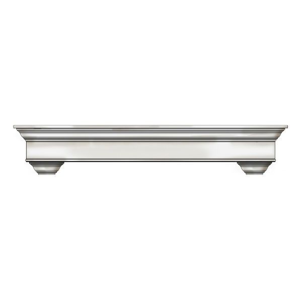 Ornamental Designs Bayview Fireplace Mantel - Antique White image number 0