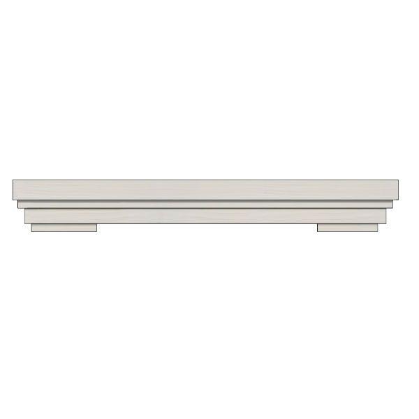 Ornamental Designs Summit Fireplace Mantel - Satin White image number 0