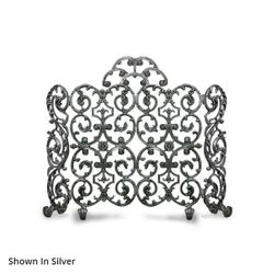 Avalon Two Panel Arched Fireplace Screen With Sides