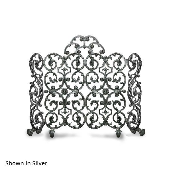 Avalon Two Panel Arched Fireplace Screen With Sides image number 0
