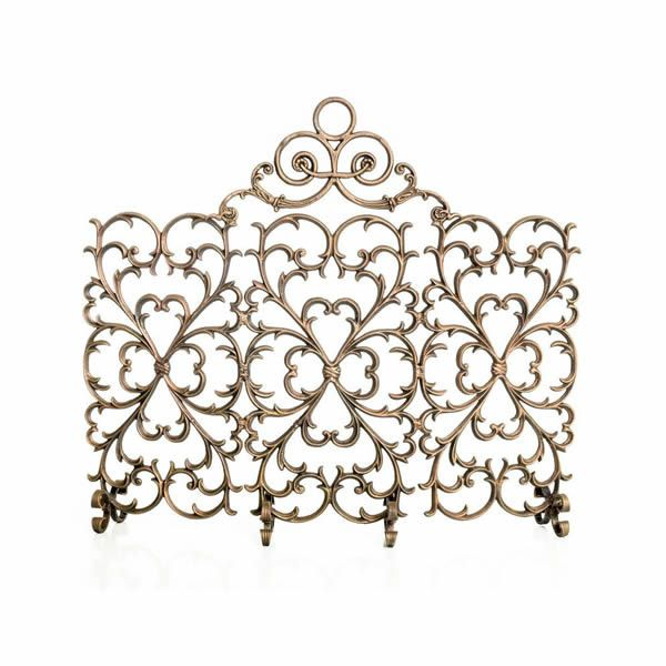 Ornamental Designs 3-Panel Arched Scroll Screen image number 0