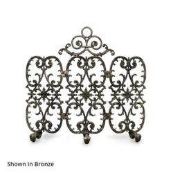 Sienna Three Panel Arched Fireplace Screen