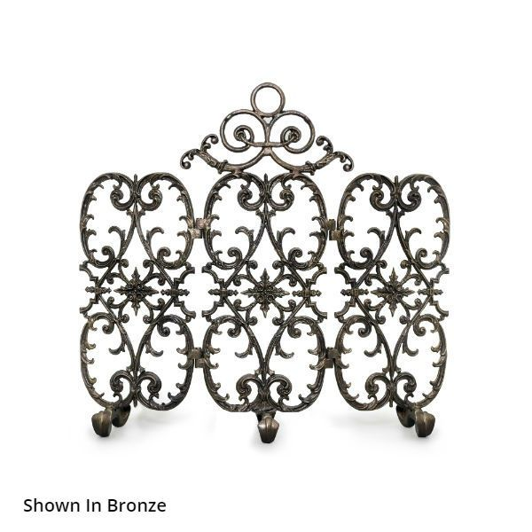 Sienna Three Panel Arched Fireplace Screen image number 0