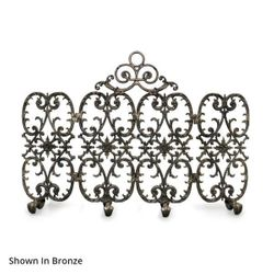 Sienna Four Panel Arched Fireplace Screen