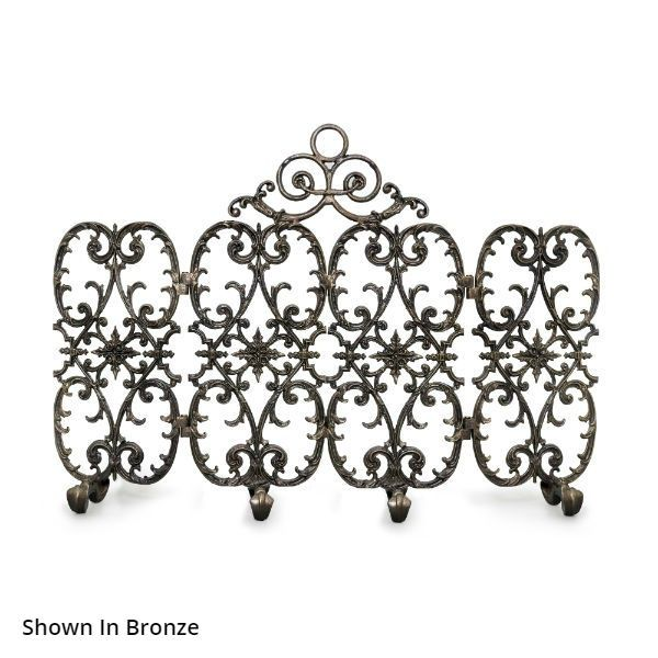 Sienna Four Panel Arched Fireplace Screen image number 0