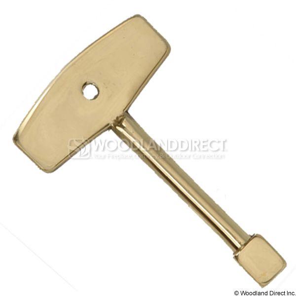 """1/4"""" Solid Brass Valve Key image number 0"""