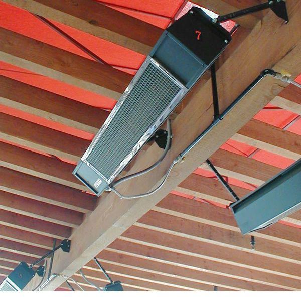 Sunpak Direct Spark Gas Patio Heater 25,000 BTU - Black image number 1