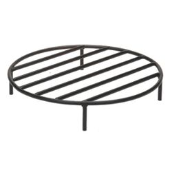 Black Steel Fire Ring Grate - 19""