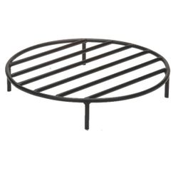 Black Steel Fire Ring Grate - 12""