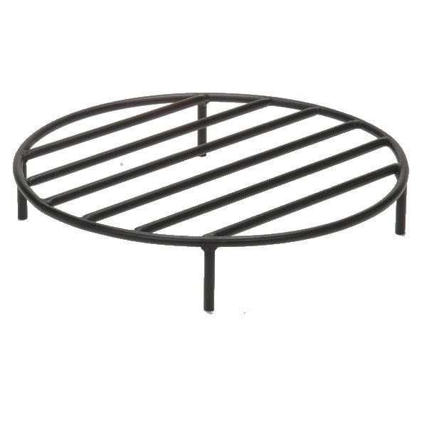 "Black Steel Fire Ring Grate - 12"" image number 0"