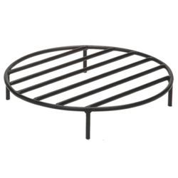 Black Steel Fire Ring Grate - 24""