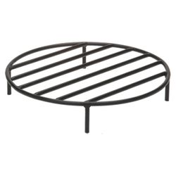 Black Steel Fire Ring Grate - 22""