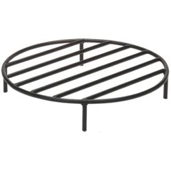 Black Steel Fire Ring Grate - 36""