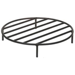 Black Steel Fire Ring Grate - 30""