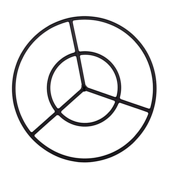"""Black Steel Natural Gas Fire Ring Burner - 19"""" image number 0"""
