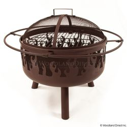 Brown Steel Flame Fire Pit