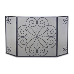 Elements 3-Panel Fireplace Screen