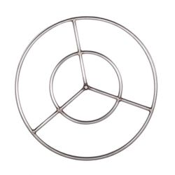 Stainless Steel Natural Gas Fire Ring Burner - 19""