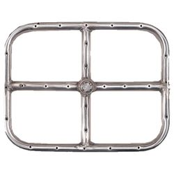 Stainless Steel Natural Gas Rectangular Fire Ring - 12""