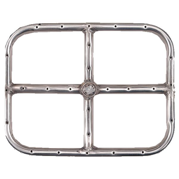 """Stainless Steel Natural Gas Rectangular Fire Ring - 12"""" image number 0"""