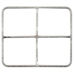 """Stainless Steel Natural Gas Rectangular Fire Ring - 24"""""""