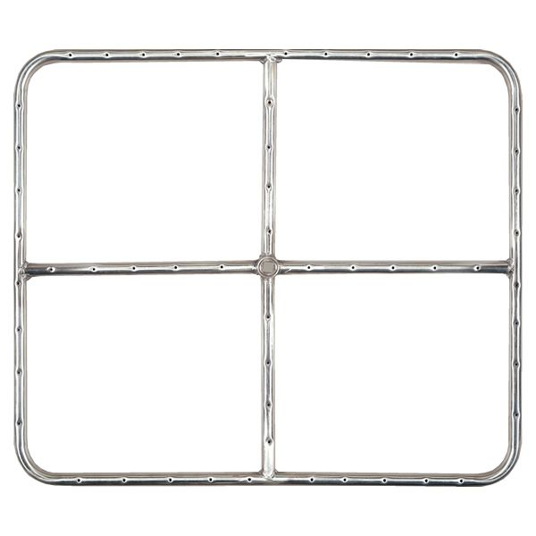 "Stainless Steel Natural Gas Rectangular Fire Ring - 24"" image number 0"