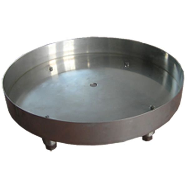 "Stainless Steel Round Fire Bowl Pan - 25"" image number 0"