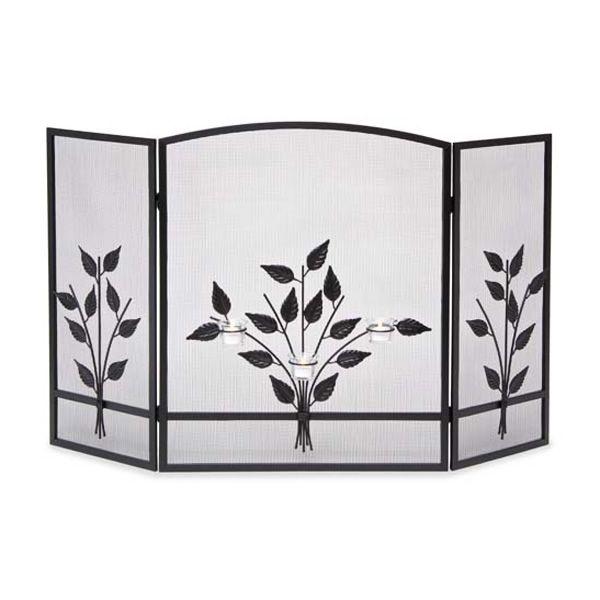 Three Tea Lights 3-Panel Fireplace Screen image number 0