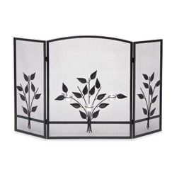 Three Tea Lights 3-Panel Fireplace Screen