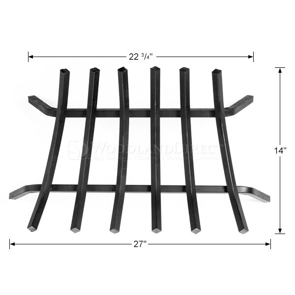 "3/4"" Steel 6-Bar Fireplace Grate - 27"" image number 1"