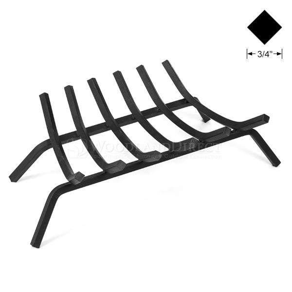 "3/4"" Steel 6-Bar Fireplace Grate - 27"" image number 0"