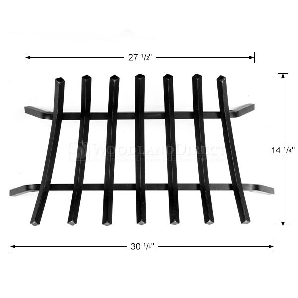 "3/4"" Steel 7-Bar Fireplace Grate - 30"" image number 1"