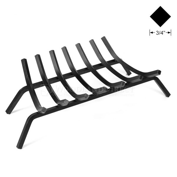 "3/4"" Steel 7-Bar Fireplace Grate - 30"" image number 0"
