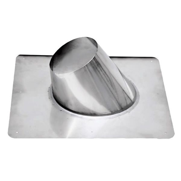 """4"""" Diameter Champion Stainless Steel 0/12 to 6/12 Flashing for Pellet Pipe image number 0"""