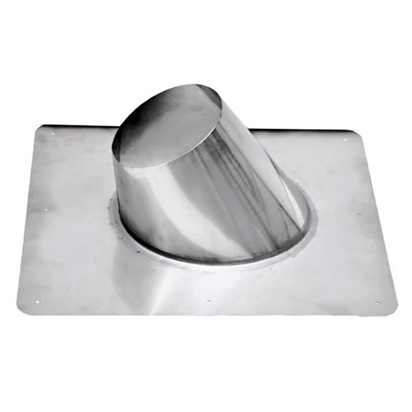 """3"""" Diameter Champion Stainless Steel 0/12 to 6/12 Flashing  for Pellet Pipe image number 0"""