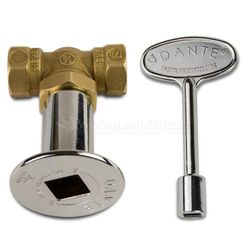 1/4 Turn Ball Valve Combo Pack - Straight - Chrome