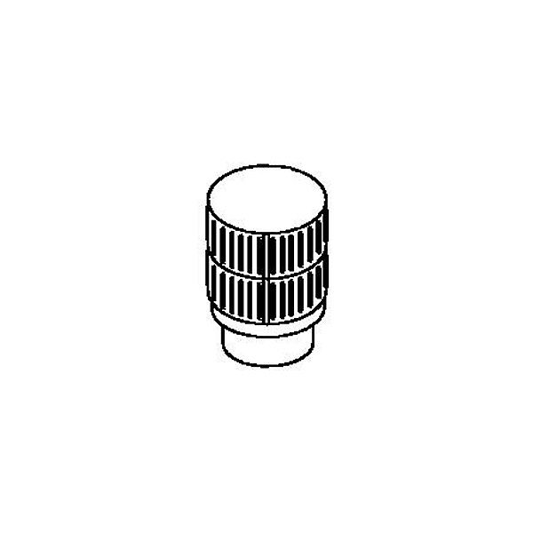 """12"""" Dia. Superior HT Round Top Termination Louvered Screen image number 0"""